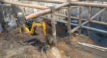 Устройство геотехнического баръера по адресу Б.Козихинский пер., дом 25